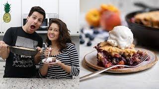 Easy Vegan Blueberry Peach Cobbler