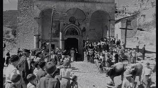 TAGLIACOZZO Chiesa del Soccorso. 1943 dal film Desiderio di R. Rossellini. by Enzo Coletta