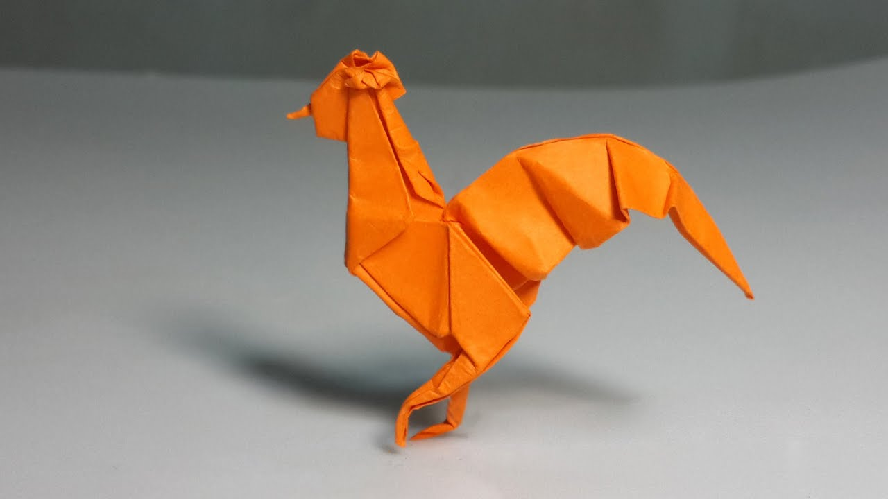 easy origami rooster tutorial henry ph��m youtube