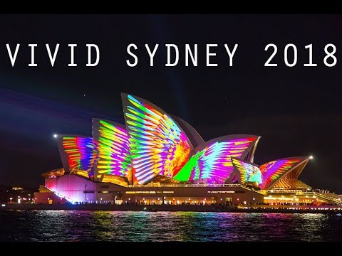 Vivid Sydney 2018 Light Show - Sydney Opera House, Harbour B