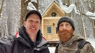 CABIN BUILD HALTED | Our WOOD is Still WET! | Preparing For FIRST OVERNIGHT With Special Guest Ep4
