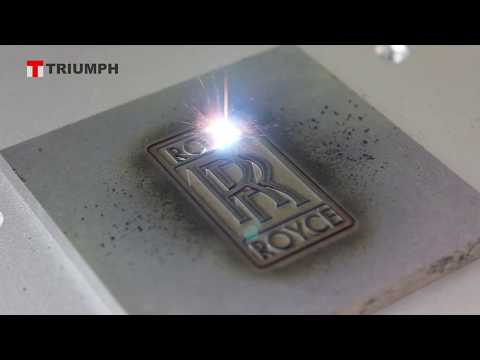 Steel Engraving 1mm Deep Marking By Triumph Laser Marking Machine