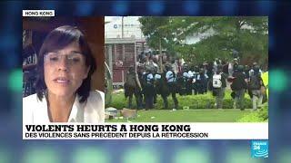 Heurts à Hong-Kong : la colère monte contre la police accusée de brutalité