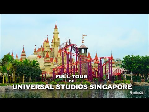 [HD] Universal Studios Singapore Tour - Universal Studios Th