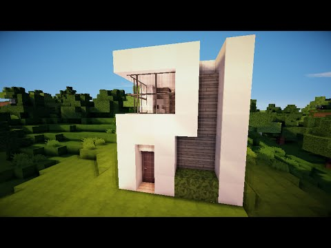 How to make a small modern house 6 two story