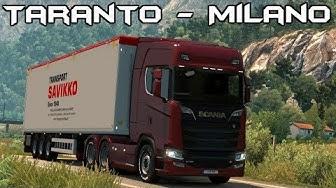 Euro Truck Simulator 2 Italia DLC: Taranto to Milano! Timelapse