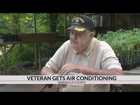 Korean war veteran gets free air conditioning unit when Upstate company steps in to help