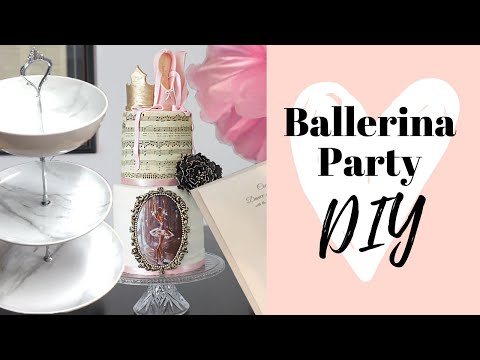 DIY Ballerina Birthday Party: 3 Tiered Serving Stand, Invites, and MORE!