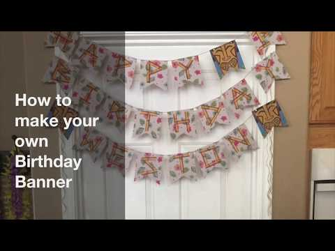 diy how to make your own birthday banner youtube