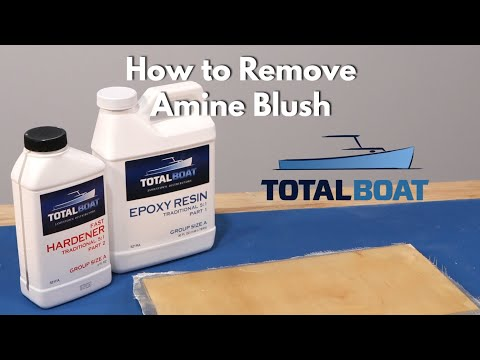 How to Remove Amine Blush from Epoxy Resin