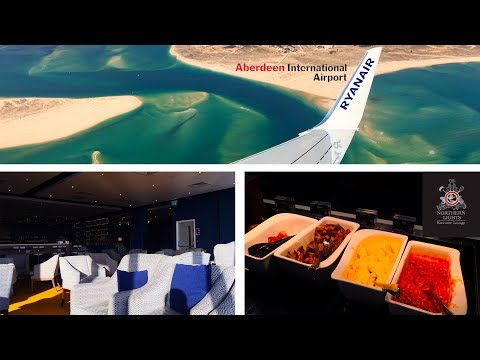 NEW Aberdeen Airport Northern Lights Lounge Tour, NEW Route to Faro - Ryanair 737-800