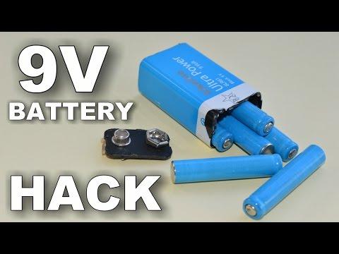 9 volt battery hack youtube. Black Bedroom Furniture Sets. Home Design Ideas