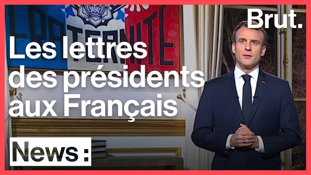Quand les présidents écrivent une lettre aux Français