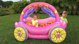 Download Diana Pretend Play with Princess Carriage Inflatable Toy Mp3 and Videos