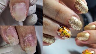 РЕМОНТ КАЖДОГО ногтя НОВИНКА STALEKS СЛОЖНЫЕ ногти ОСЕННИЙ маникюр ВЫСОКИЕ точки ВРОСТА
