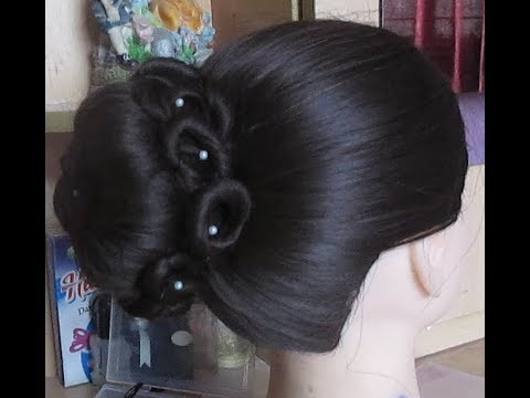 Latest Wedding Bun Hairstyle#Juda Hairstyle#Bridal Bun Hairstyle#Updo Hairstyle#Bun Hairstyle