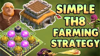 SIMPLE TOWN HALL 8 (TH8) Farming Attack Strategy - 2017 | With 5 Replays | Clash Of Clans