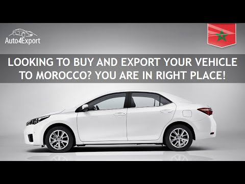 Shipping cars from USA to Morocco - Auto4Export
