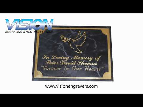 Memorial Plaque Engraving On The VE810 Engraving Machine