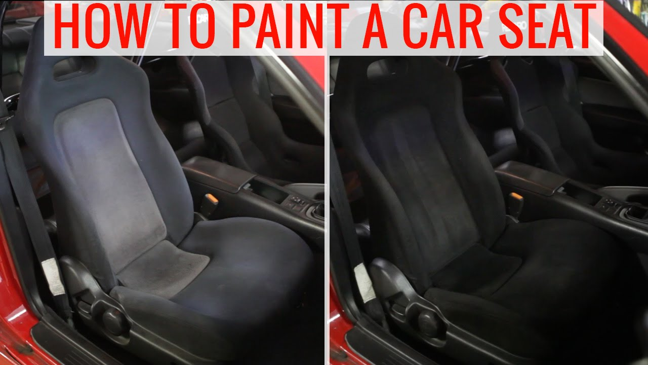 DIY Painting Car Seats To Change The Color