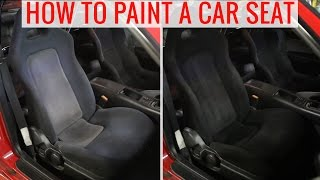 DIY painting car seats to change the color - How-to, tips and precautions