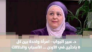 د. عبير البواب - امرأة واحدة بين كل 5 باحثين في الأردن ... الأسباب والدلالات