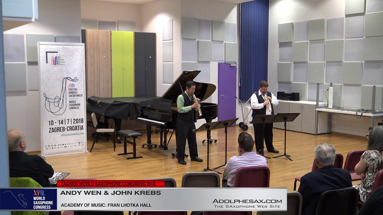 Suite for two saxophones by Sy Brandon   Andy Wen & John Krebs   Zagreb WSC 2018 #adolphesax