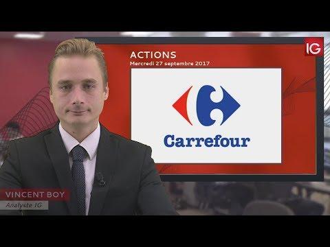 Bourse - Action Carrefour,rumeurs sur le titre - IG 27.09.2017