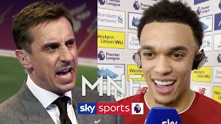 Gary Neville & Jamie Carragher quiz Trent Alexander-Arnold after Liverpool's win over West Ham   MNF