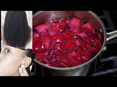 I found the SECRET to Perfect SKIN & HAIR! HOMEMADE ROSEWATER! Hair Growth & Clear Skin!