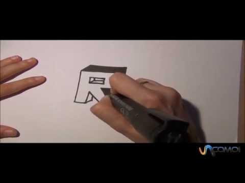 dibujar la r en 3d youtube. Black Bedroom Furniture Sets. Home Design Ideas