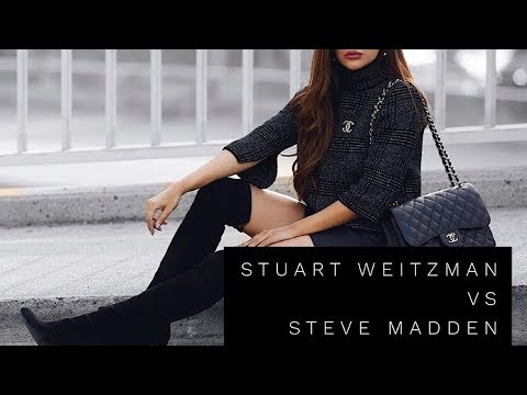 STEVE MADDEN vs STUART WEITZMAN SUEDE OVER THE KNEE BOOTS | BUDGET STYLIST: LOOK FOR LESS