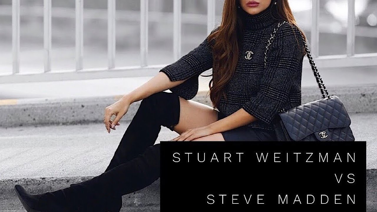 STEVE MADDEN vs STUART WEITZMAN SUEDE OVER THE KNEE BOOTS | LOOK FOR LESS