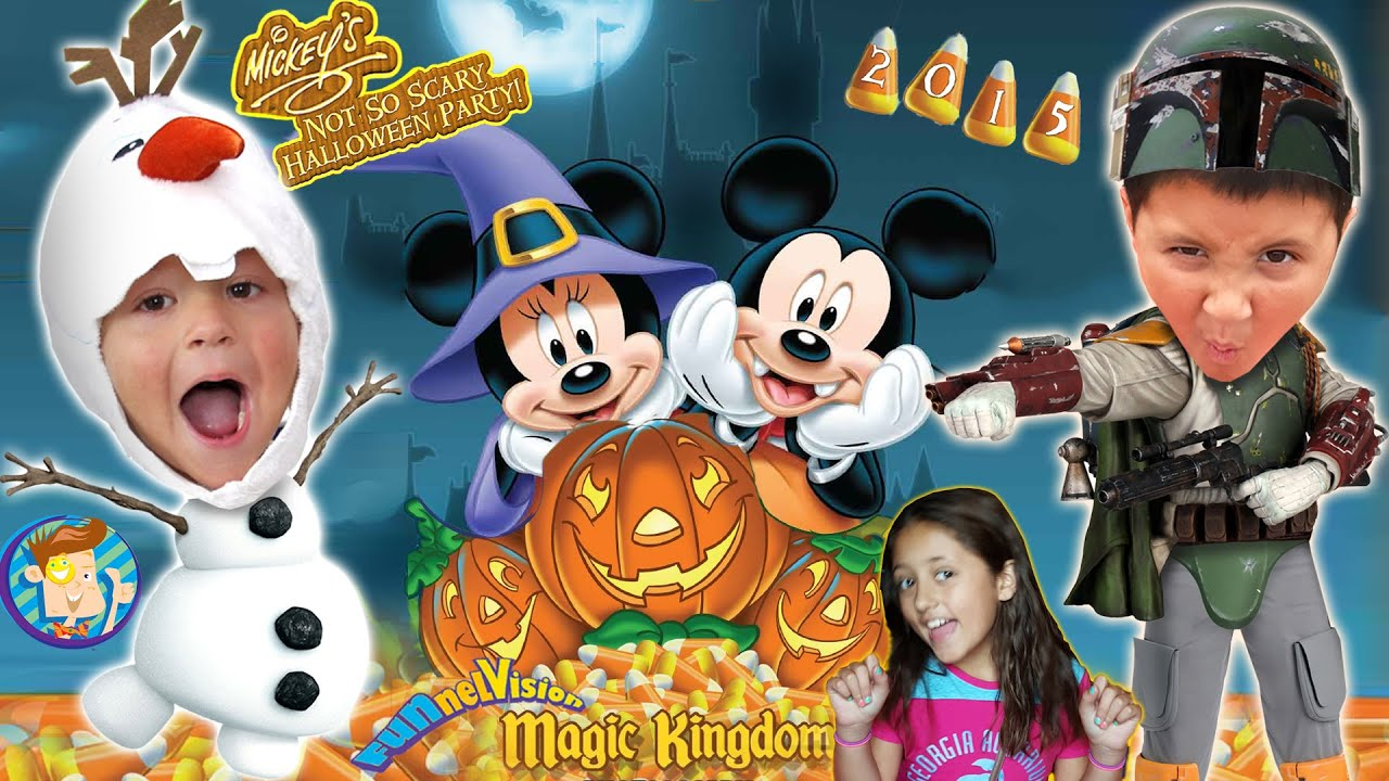trick or treating in disney world mickeys not so scary halloween party 2015 funnel vision trip youtube - Disneys Not So Scary Halloween Party