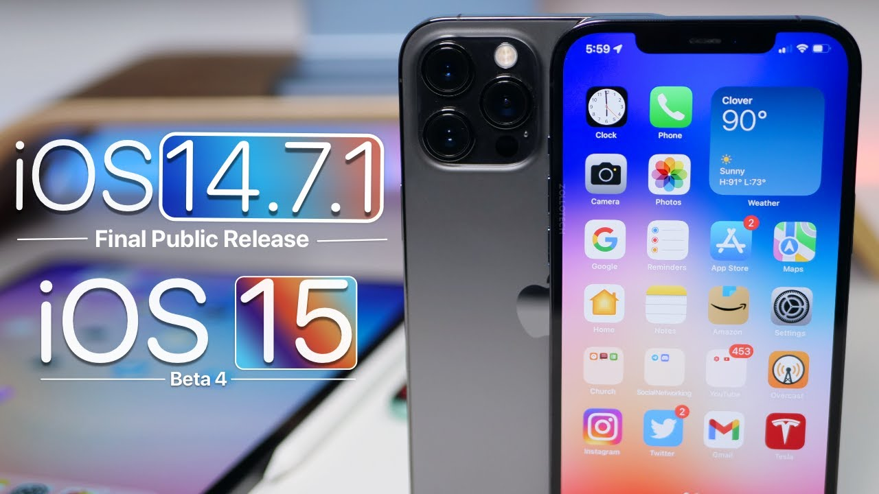 Download iOS 14.7.1 and iOS 15 Beta 4 - Features, Release, Follow Up Review