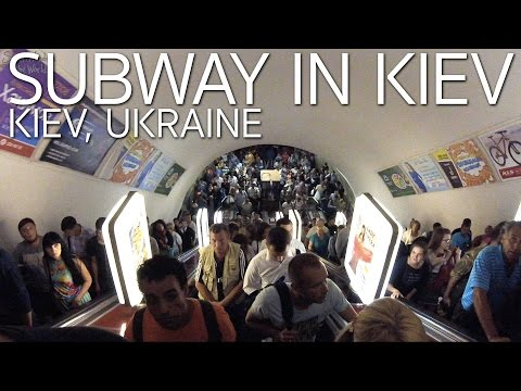Riding the Subway in Kiev at Rush Hour E010