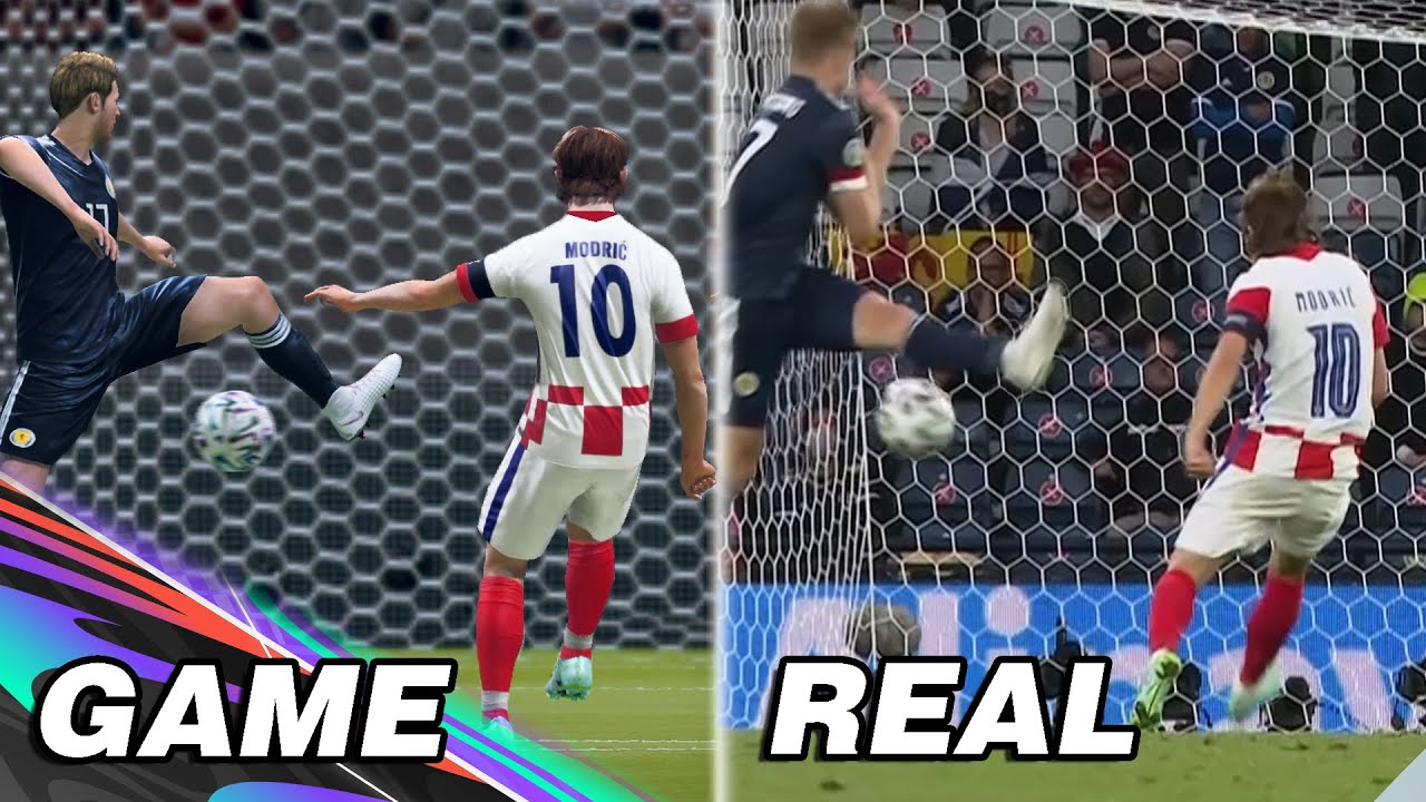EURO 2020 TOP Goals & Saves Recreated on FIFA YMJ