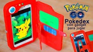 POKEDEX funda MOVIL con carton POKEMON GO #pokemongo
