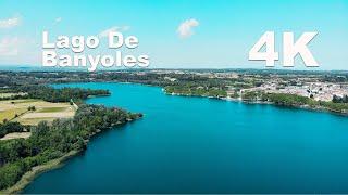Vista Aérea del Lago de Banyoles, Girona   Tomas con Mavic Air - Paisajes 4K
