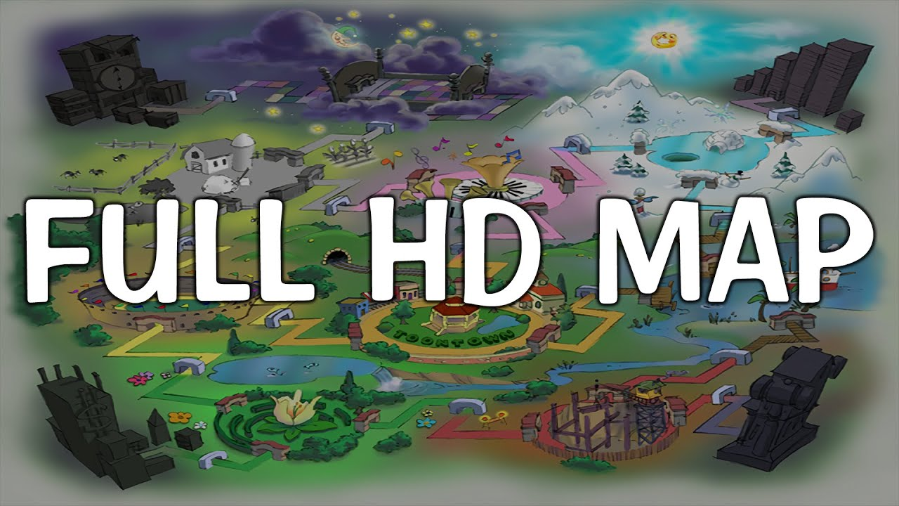 The Full Hd Original Toontown Map Youtube
