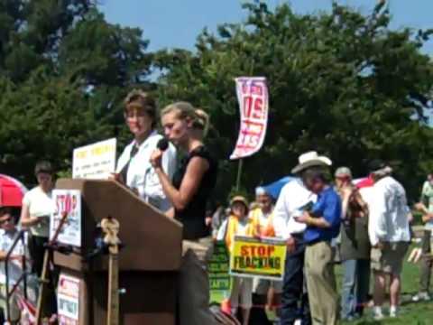 Kelly Humphreys Represents WV at Stop The Frack Attack, July 28, 2012