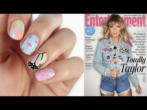 Recreating Taylor Swift's EW Cover + Nail Art! | Elizabeth Anne