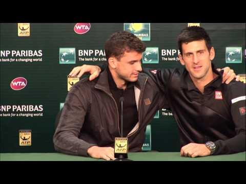 BNP Paribas Open: Novak Djokovic Crashes Grigor Dimitrov Press Conference