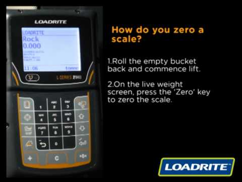 loadrite l2180 onboard weighing how to zero scales youtube rh youtube com John Deere PayScale Load Rite Loader Scales