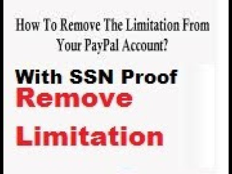 How to Remove PayPal Limitation By Upload SSN proof In urdu/hindi 2018