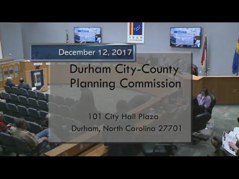 Durham Planning Commission Dec 12, 2017