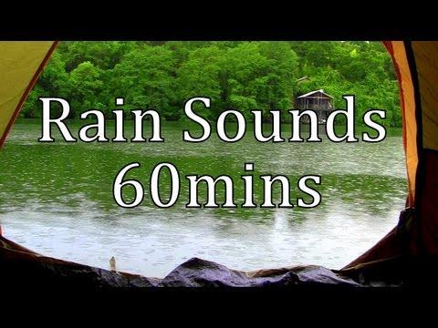 """Rain Sounds"" Rain in a Tent by a Lake 60min ""Sleep Sounds"""
