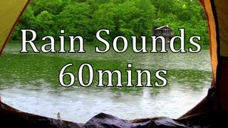 """Rain Sounds"" Rain in a Tent by a Lake 60min ""Sleep Sounds"""