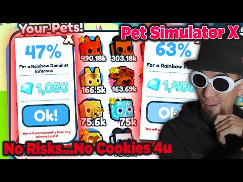 Got So Lucky Taking Chances Fusing Rainbow Pets In Roblox Pet Simulator X