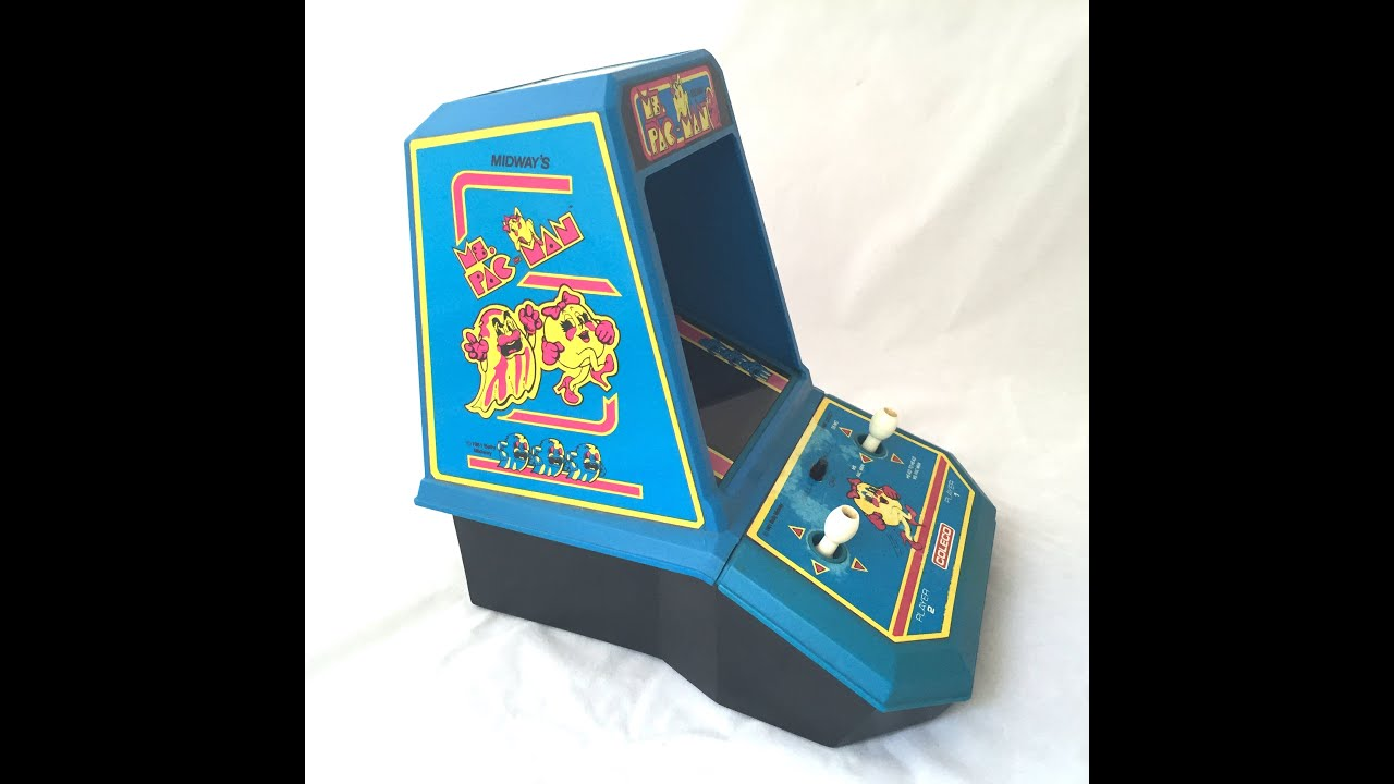 Ms Pacman Cabinet Ms Pac Man Tabletop Arcade 1982 Coleco 2395 Pacman Video Game